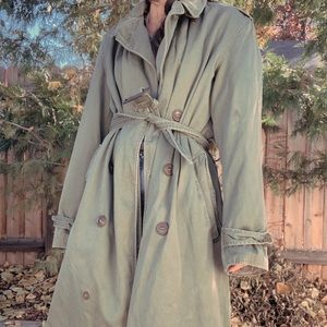 Vintage Distressed Military Field Trench Coat